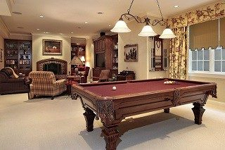 Pool table setup services in Pittsburgh.