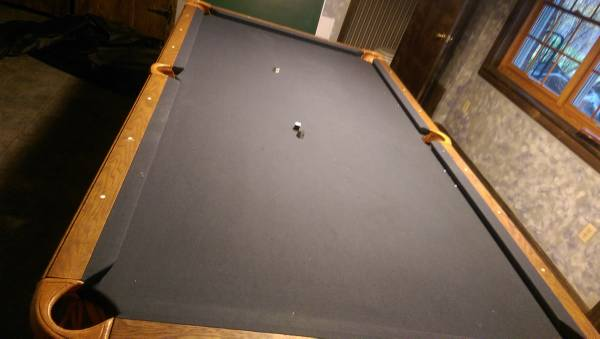 Olhausen Pool Table 4 X 8 Grey Felt Pockets Not Ball Return. New Bumpers  And Felt As Of 4 Years Ago. You Move.