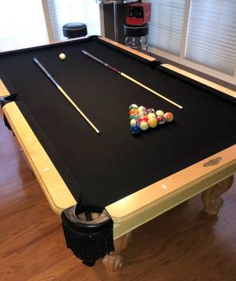 Pool Table 8ft Black Cloth