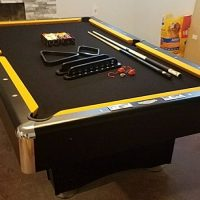 Black and Gold Pool Table