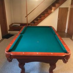 Home 8' King Billiard Table With All Pictured Accessories