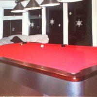Olhausen 9' Regulation Brushed Aluminum, Slate Pool Table